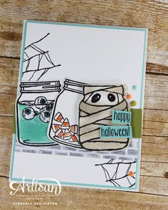 Create fun Halloween cards using the Jar of Haunts, Stampin' Up!