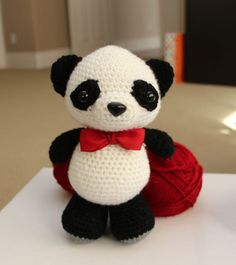 Amigurumi Crochet Pattern - Dumpling the baby panda by littlemuggles