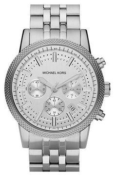 Michael Kors Knurling Edge Stainless Steel Watch