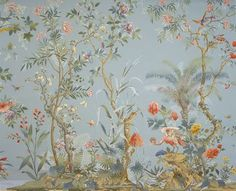 Image result for silver background chinoiserie wallpaper