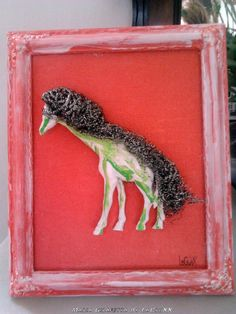 Glam Decoration Maria Giraffetta by PostDollsARTuNIVERSE on Etsy, €30.00