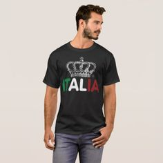italy italian flag fun family love food life kids T-Shirt - kids kid child gift idea diy personalize design
