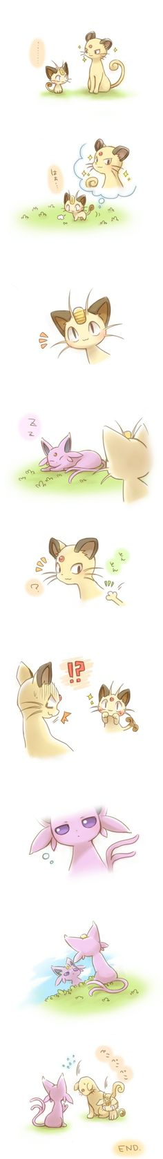 meowth wants to be like momma