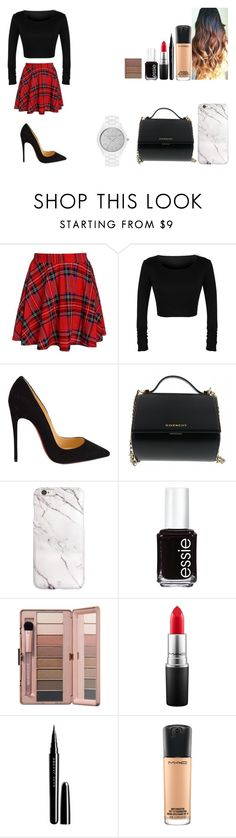 """""""Untitled #457"""" by kalieh092 on Polyvore featuring Christian Louboutin, Givenchy, Essie, MAC Cosmetics, Marc Jacobs, MICHAEL Michael Kors, women's clothing, women's fashion, women and female"""
