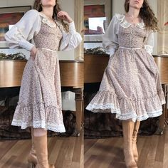 dress Gunne Sax Likely juniors Bust: - Pretty Outfits, Pretty Dresses, Beautiful Dresses, Cute Outfits, Vintage Dresses, Vintage Outfits, Vintage Fashion, Vintage Inspired Dresses, 70s Fashion