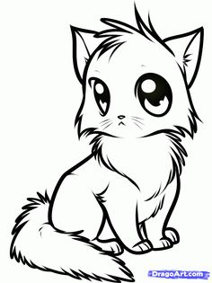 Cute Animals Pictures To Color And Print | Cute Cat Coloring Pages   Coloring  Pages U0026