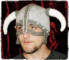 """Skyrim Inspired Viking Helmet Hat Pattern©""  By Connie Hughes Designs©  Read more at http://spotconnie.blogspot.com/2014/07/skyrim-inspired-viking-helmet-hat.html#wTim7svjKVUqsQ4r.99"