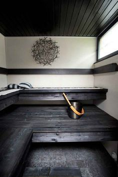 sauna - I want one of these one day! Spa Sauna, Sauna Room, Modern Saunas, Sauna Design, Outdoor Sauna, Finnish Sauna, Spa Rooms, Steam Room, Home Spa