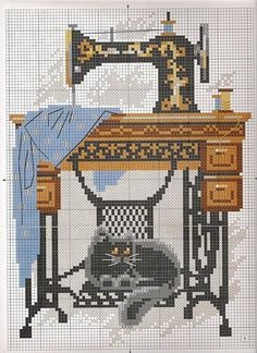 Embroidery patterns on the sewing theme Cross Stitch Love, Counted Cross Stitch Patterns, Cross Stitch Charts, Cross Stitch Designs, Cross Stitch Embroidery, Embroidery Patterns, Crochet Cross, Cross Stitching, Needlework