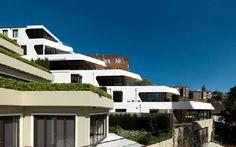 Futuristic Apartment Building in Australia Cascading Down Bellevue Hill