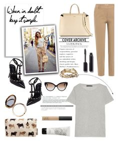 """""""When In Doubt Keep It Simple..."""" by glamorous09 ❤ liked on Polyvore featuring Furla, Brunello Cucinelli, Valentino, Chanel, Majique, Cutler and Gross, rag & bone, Odeme, Diptyque and NARS Cosmetics"""