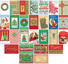 Prime Greetings Assorted Variety Pack - Happy Holiday Cards ... Wholesale Greeting Cards, Happy Holidays, Holiday Cards, Merry, Kids Rugs, Christmas, Decor, Yule, Decoration