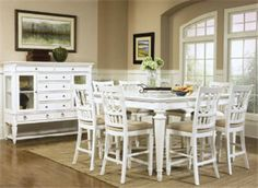 country style counter height dining sets | Notice howthe finishing touches of these rooms draw youin. Let ...