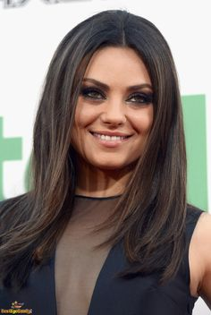 Mila Kunis... Brunette, Brown Eyes Make up!