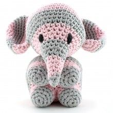 Mo the Striped Elephant Crochet Kit