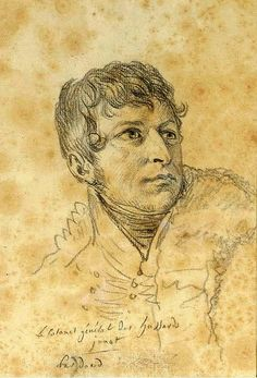 Jacque-Louis David - Sketch of General Jean-Andoche Junot