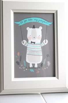 Bear Hug Mini Print