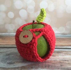 Apple Jacket - Hand Crocheted Red by curlsofsunshine on Etsy