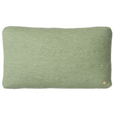 QUILT GREEN CUSHION Designed by Trine Andersen   ferm Living at Modern Intentions - Authentic modern furniture, lighting, and accessories. Green Cushions, Green Quilt, Modern Throw Pillows, Modern Furniture, Quilts, Accessories, Design, Lighting, Green Throw Pillows