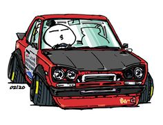 "original cartoon ""mame mame rock""   /   (c) ozizo  jdm  japanese old school ""hakosuka"""