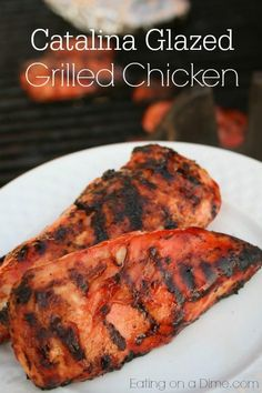 This recipe is proof that anyone can cook some delicious chicken. Salad dressing is one of our best kept secrets (ok… I guess it isn't a secret). You can use it to Marinade your chicken or glaze it while the chicken is cooking for even more flavor. Chicken Kabobs, Bbq Chicken, Grilled Chicken, Chicken Recipes, Chicken Salad, Cheesy Chicken, Catalina Dressing Recipes, Catalina Salad Dressing, Catalina Chicken