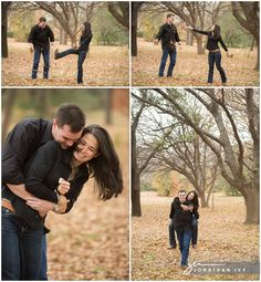 Fun Fall Engagement Photos by Jonathan Ivy Photography