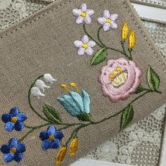 ショートウォレット#embroidery #カロチャ