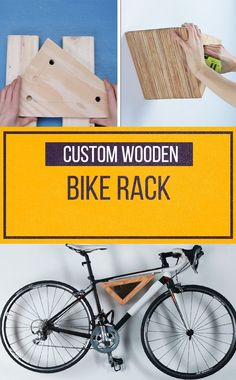 This custom modern bike rack is perfect for apartment dwellers!