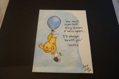 Classic Winnie the Pooh hand painted acrylic by poodlemanagerie, $9.00