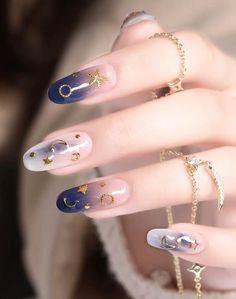 Summer nails for women Pretty Nail Art, Cute Nail Art, Beautiful Nail Art, Cute Nails, Korean Nail Art, Kawaii Nails, Best Acrylic Nails, Dream Nails, Stylish Nails