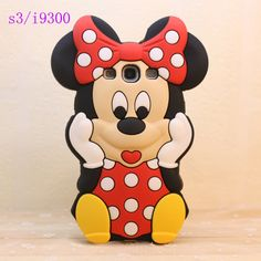 3D Mickey Mouse Silicone Case Cover For Samsung Galaxy S7562 S3 S4 S5 Mini S6 S7 Edge A3 A5 A7(2016) G531F G361F 5S 6S Gel Cases