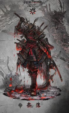 Arte de samurai Nail Desing e-art nail design budapest Arte Ninja, Ninja Art, Japanese Artwork, Japanese Tattoo Art, Fantasy Armor, Dark Fantasy Art, Fantasy Samurai, Fantasy Character Design, Character Art