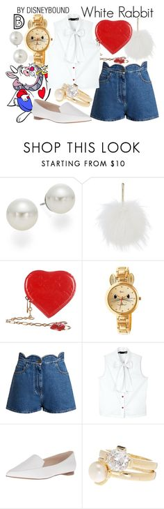 """""""White Rabbit"""" by leslieakay ❤ liked on Polyvore featuring AK Anne Klein, Yves Salomon, Louis Vuitton, Boum, Valentino, Disney, Love Moschino, Nine West, Cole Haan and disney"""