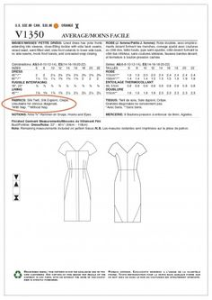 Vogue 1350_fabric types