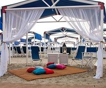 Beach tents for a special event at the Augustus Beach Club