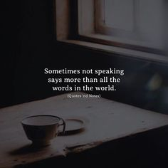 Sometimes not speaking says more than all the words in the world. via (http://ift.tt/2xsJAoI)