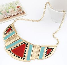 wholesale cheap jewelry Fashion exaggerated vintage multicolor enamel choker necklace free shipping for $15 on AliExpress.com. 5% off $4.07