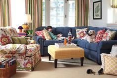 Fanfare Fabric Collection. Image: calicocorners.com.  Love this room!