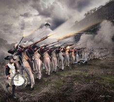 Spain / Battles, Knights.. Peninsular War.  Guerra de la independencia española.French infantry at Pamplona 1813