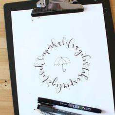superkalifragilistikexpialigetisch .. - Mary Poppins - Lettering Tombow Fudenosuke & Staedtler Pigement Liner - by eineckig.com