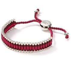 Links of London Red and Metallic Bracelet ($225) ❤ liked on Polyvore