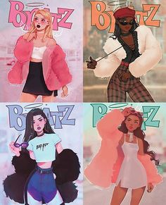 cartoon costumes character outfits Bratz Poster by Tasia M S Eheh. Black Girl Cartoon, Black Girl Art, Black Girl Magic, Art Girl, Super Nana, Magic Art, Halloween Disfraces, Dope Art, Cartoon Art