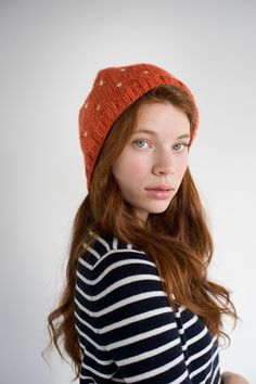 How to knit a darling speckled hat