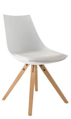 Chaise de salle à manger design en PU blanc (lot de 2) Sabine - Buffet/bahut - Soldes Salle à manger - PROMOS
