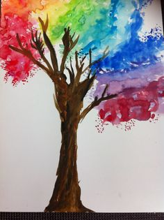 Nice color tree. Easy to paint. Watercolor