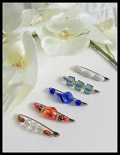 🌹5PCS Vintage Inspired Safety Pin Brooch~Scarf/Shawl/Hijab Pin/Kilt Pin Set🌹