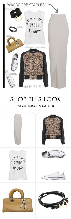 """""""Tried and True: Wardrobe Staples'"""" by dianefantasy ❤ liked on Polyvore featuring Rick Owens, R13, Sans Souci, Converse, Christian Dior, MIANSAI, Absidem, polyvorecommunity, polyvoreeditorial and WardrobeStaples"""