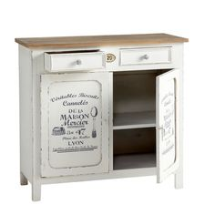 Wooden sideboard in white . Furniture Makeover, Furniture Decor, Painted Furniture, Casa Retro, Buffet Hutch, Affordable Furniture, Miniature Furniture, Upholstered Chairs, Home Collections