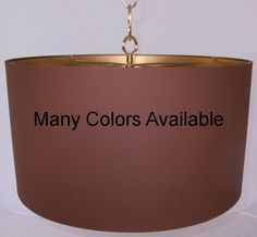 Custom Metal Swag Lamp Drum Pendant Light Available In Colors, Sizes & Shapes, Limited Only By Your Imagination Drum Pendant, Pendant Lights, Cylinder Shape, Tiffany Lamps, Hanging Pendants, Custom Metal, Rustic Style, Drums, Imagination