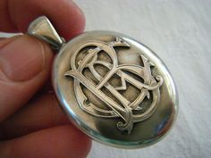 victorian initialled locket
